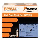 Paslode 35mm Twisted Electro GALV Nail & Fuel Pack - 2,500 (141185)